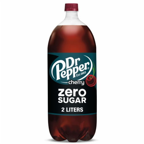 Dr Pepper Zero Sugar Cherry Soda Perspective: front