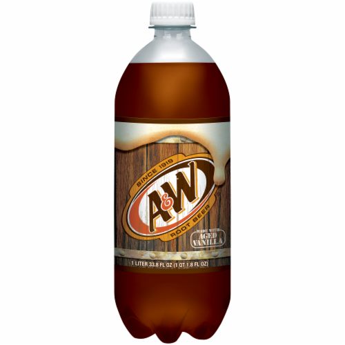A&W Root Beer Soda Perspective: front