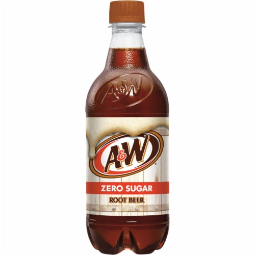 A&W Diet Root Beer Soda Perspective: front