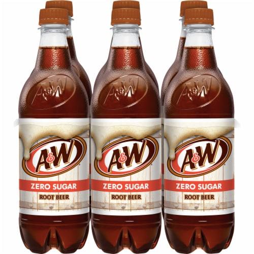 A&W Root Beer Zero Sugar Soda Perspective: front