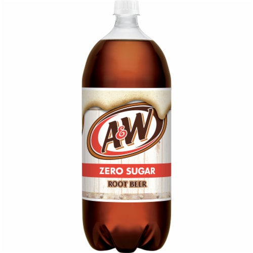 A&W Root Beer Zero Sugar Soda Perspective: front