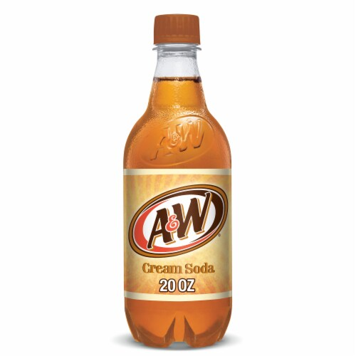 A&W Cream Soda Made With Aged Vanilla Perspective: front