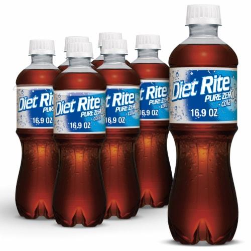 Diet Rite Pure Zero Cola Perspective: front