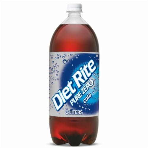 Diet Rite Pure Zero Cola Soda Perspective: front