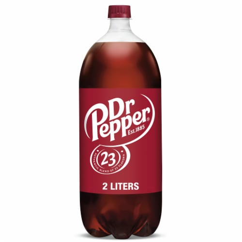 Dr Pepper Soda Perspective: front