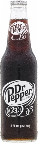 Dr Pepper with Real Sugar Perspective: front