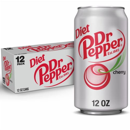 Diet Dr Pepper Cherry Soda Perspective: front