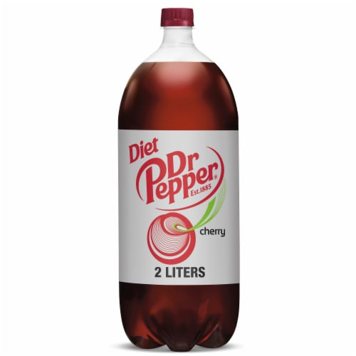 Dr Pepper Diet Cherry Soda Perspective: front