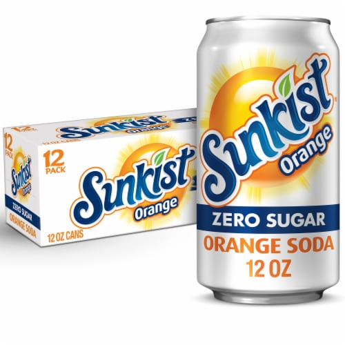 Diet Sunkist Orange Soda Perspective: front