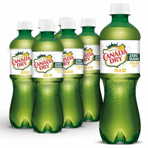 Canada Dry Zero Sugar Ginger Ale Perspective: front