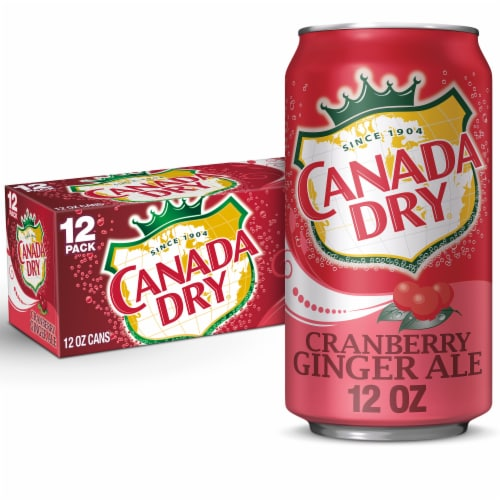 Canada Dry Cranberry Ginger Ale Soda Perspective: front