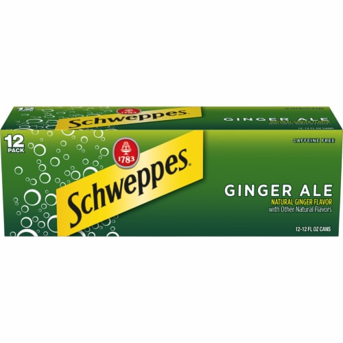 Schweppes Ginger Ale Soda 12 Cans Perspective: front