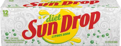 Sun Drop Diet Citrus Soda Perspective: front
