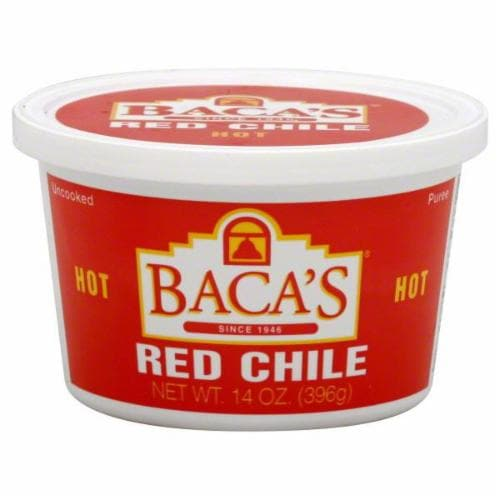 Baca's Hot Red Chile Puree Perspective: front