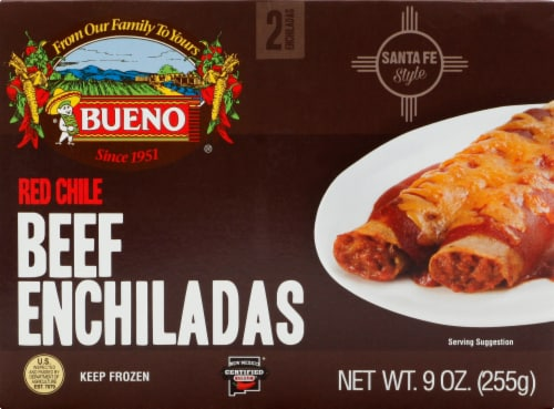 Bueno Red Chile Beef Enchiladas Perspective: front