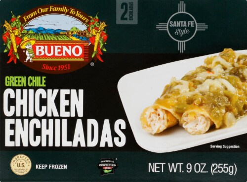 Bueno Green Chile Chicken Enchiladas 2 Count Perspective: front