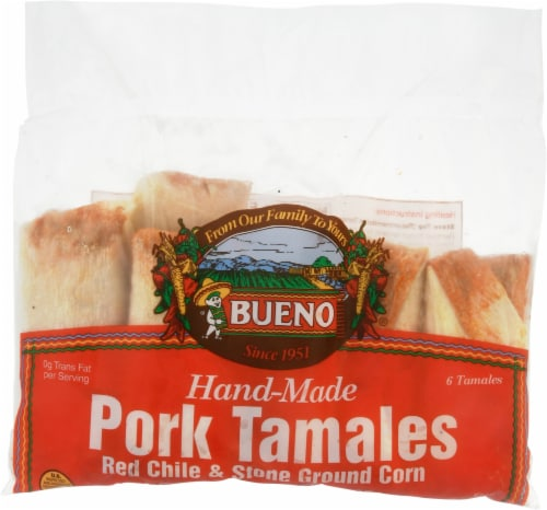 Bueno Red Chile Pork Tamales Perspective: front
