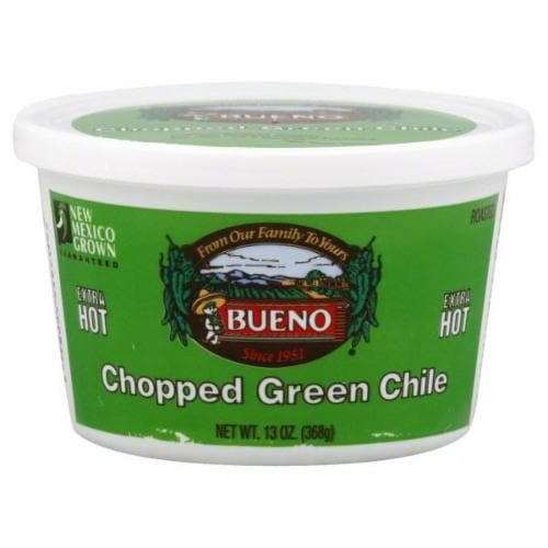 Bueno  Extra Hot Chopped Green Chile Perspective: front