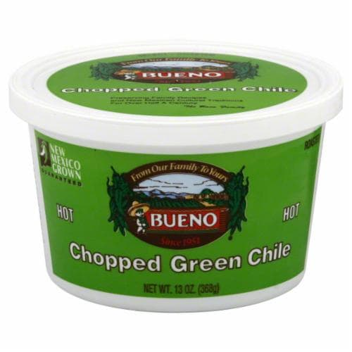 Bueno Hot Chopped Green Chile Perspective: front