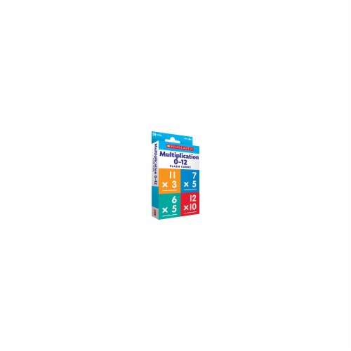Scholastic 823357 Flash Cards - Multiplication 0 - 12 Perspective: front
