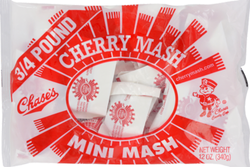 Chase's Cherry Mini Mash Candy Perspective: front