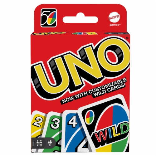 Mattel Uno Card Game Perspective: front