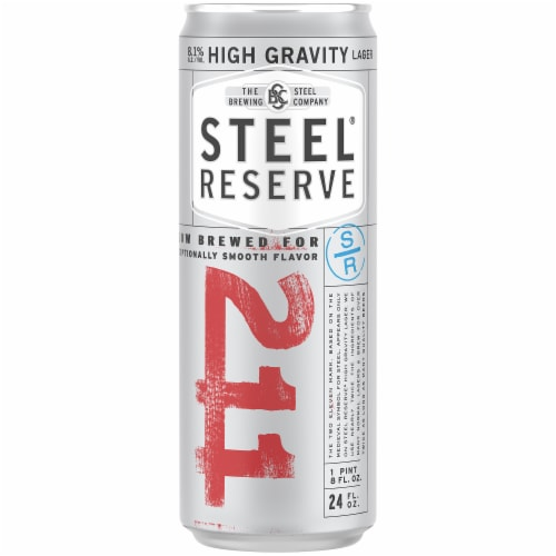 Steel Reserve High Gravity Lager Perspective: front