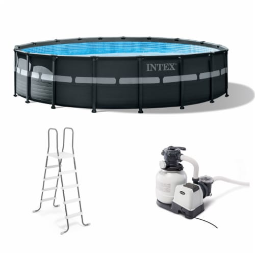 Intex 18Ft x 52In Ultra XTR Frame Round Above Ground Swimming Pool Set with Pump Perspective: front
