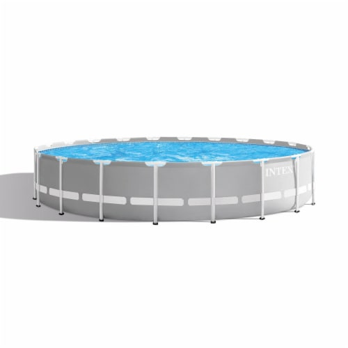 Intex 20ft x 52in Prism Frame Above Ground Swimming Pool Set with Filter Pump Perspective: front