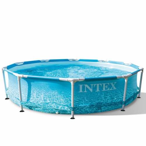 Bestway SaluSpa Miami 4-Person Portable Inflatable Round Air Jet Hot Tub Spa Perspective: front