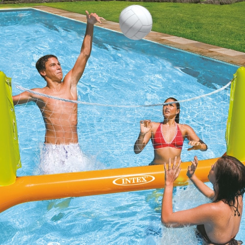 Intex 56508EP Inflatable Floating Swimming Pool Toys Volleyball Game, Green Perspective: front