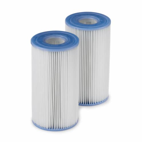 Intex Easy Set Swimming Pool Type A or C Filter Replacement Cartridges Pack Perspective: front