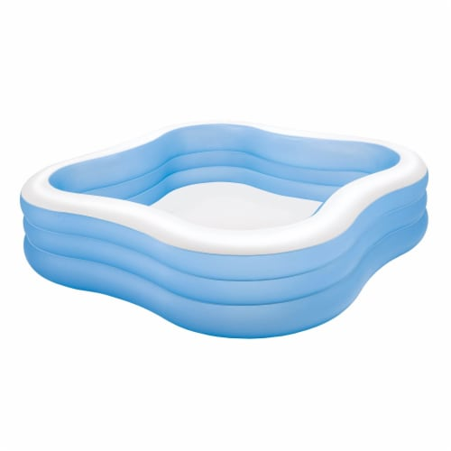 Intex Swim Center 90in x 90in x 2in Inflatable Play Kids Backyard Swimming Pool Perspective: front
