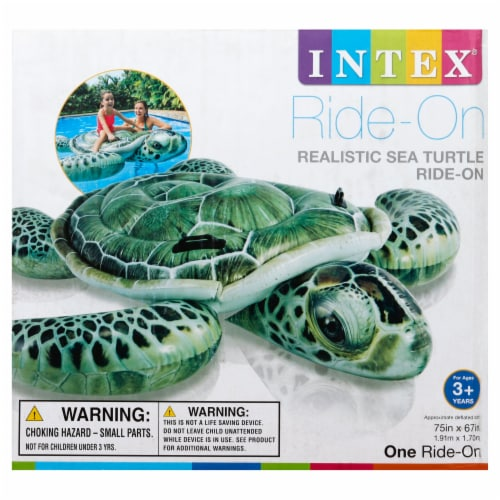 Intex Realistic Sea Turtle Ride-On - Green Perspective: front