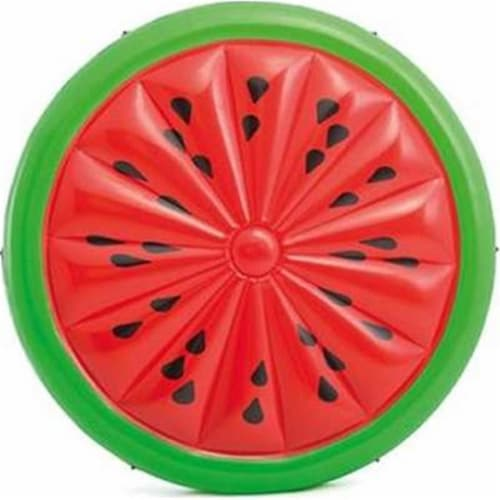 Intex Watermelon Island Float Lounge - Red/Green Perspective: front