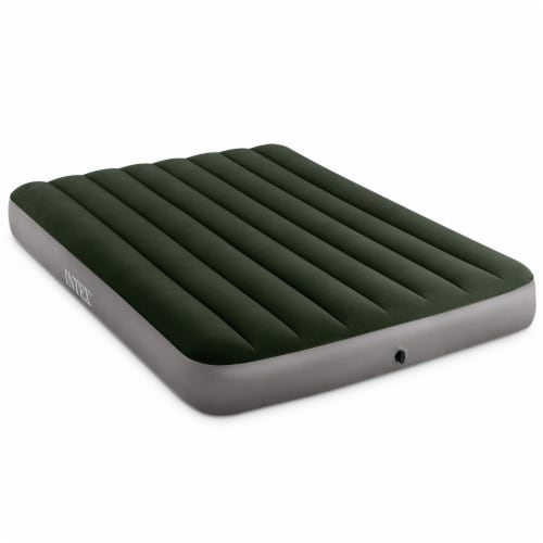 Intex 64722WL Durabeam Expedition Inflatable Air Mattress Air Bed w/ Pump, Full Perspective: front