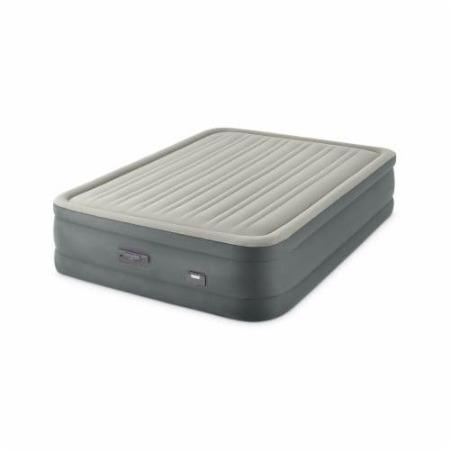 Intex PremAire Dream Support Fiber Tech Air Mattress with Built-In Pump, Queen Perspective: front
