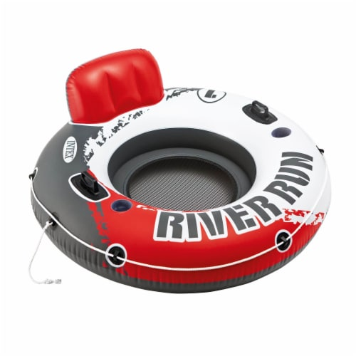 Intex River Run 1 Person Inflatable Floating Tube Lake Pool Ocean Raft, 53 Inch Perspective: front