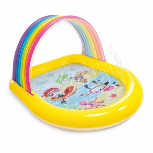 Intex 57156EP 22-Gallon Inflatable Rainbow Arch Kids Spray Pool for Ages 2 & Up Perspective: front