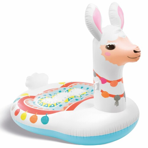 Intex 57294EP Giant Inflatable Mega Llama Island Ride On Swimming Pool Float Perspective: front