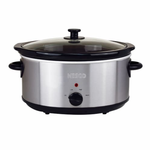 Nesco Stainless Steel Analog Slow Cooker Perspective: front