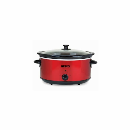 Nesco Stainless Steel Analog Slow Cooker - Red Perspective: front