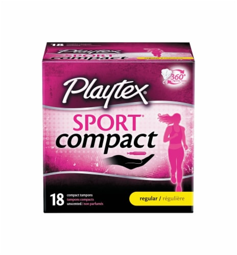 Playtex Sport Compact Regular Tampons Perspective: front