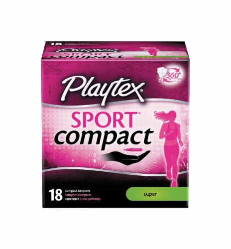 Playtex Sport Compact Super Tampons Perspective: front