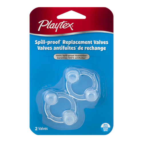 Playtex Spill-Proof Replacement Valves Perspective: front