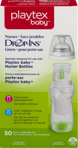Playtex Baby Drop-Ins Nurser Bottle Pre-Sterilized Liners Perspective: front