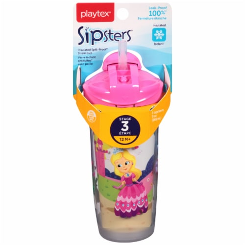 Playtex Sipsters Stage 3 Insulated Spill-Proof Straw Cup Perspective: front