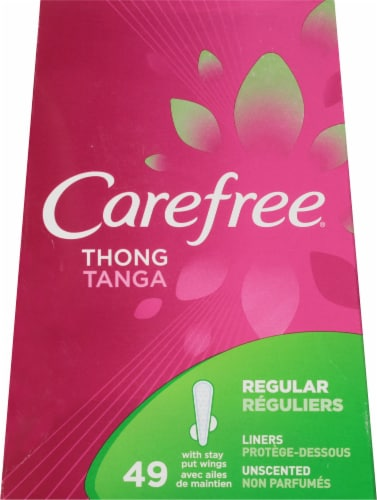 Carefree Regular Thong Liners Perspective: front