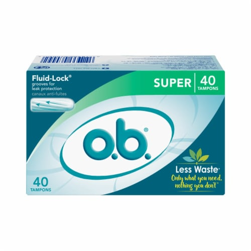o.b. Super Tampons Perspective: front