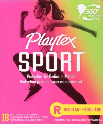 Playtex Sport Regular Unscented Tampons Perspective: front